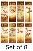 I AM series banners in fabric - 8pk