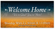 Welcome Banner for outdoors