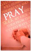 Pray Verse Red Prayer Banner