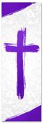 PAT034-1 Cross Brush Purple