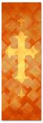 PAT044-1 Cross - Lattice Orange