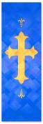 PAT052-1 Cross - Lattice Blue