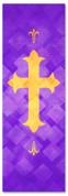 PAT056-1 Cross - Lattice Purple