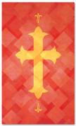 PAT043-2 Cross - Lattice Red