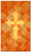 PAT047-2 Cross - Lattice Orange