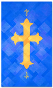 PAT055-2 Cross - Lattice Blue