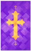 PAT059-2 Cross - Lattice Purple