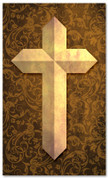 etched cross gold