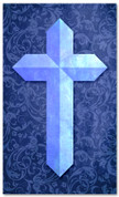Etched Cross - Blue