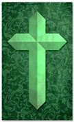 Etched Cross - Green