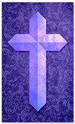 Etched Cross - Purple