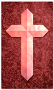 Etched Cross - Red