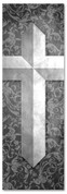 Etched Cross - Gray pattern banner