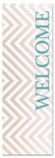 Chevron brown tan green welcome