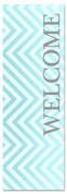 welcome chevron gray blue