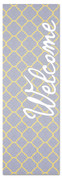 welcome pattern yellow gray