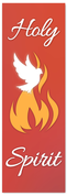 Holy Spirit Flame Banner