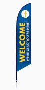 Welcome Feather Banner