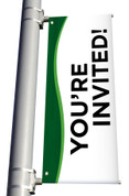 You're Invited Light Pole Banner