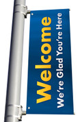 Welcome Light Pole Banner