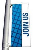 DS Light Pole Banner - Blue Squares Join Us
