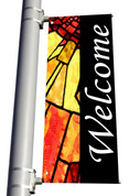 Light Pole Banner - Stained Glass Style 2 Welcome DS