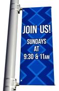 DS Light Pole Banner - Diamonds Blue Join Us