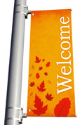 Light Pole Banner - Harvest Welcome DS