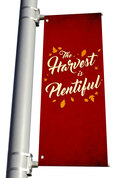 Light Pole Banner -Burgundy Fall Harvest DS