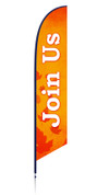 Harvest Feather - Outdoor Banner Leaves Join Us