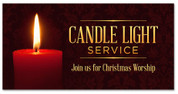 Christmas Outdoor Banner Red Candle