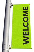 DS LIGHT POLE BANNER - Welcome Green Wood