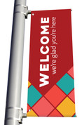 DS LIGHT POLE BANNER - Welcome Square Pattern