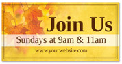 Harvest fall banner 4x8 outdoor leaves