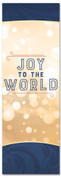 Christmas Banner  for churches - Joy to the world gold