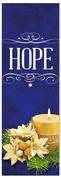 Church Christmas Banner - hope blue