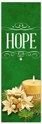 Church Christmas Banner - hope green