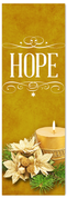 Church Christmas Banner - hope gold