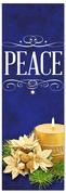 Church Christmas Banner - peace blue