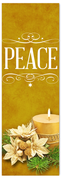 Church Christmas Banner - peace gold