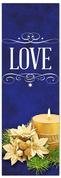 Church Christmas Banner - love blue
