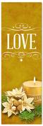 Church Christmas Banner - love gold