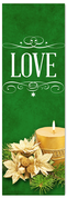 Church Christmas Banner - love green