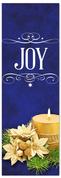 Church Christmas Banner - joy blue