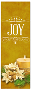 Church Christmas Banner - joy gold