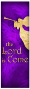 Church Christmas Banner - purple angel 3