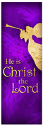 Church Christmas Banner - purple angel 4