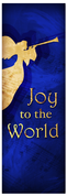 Church Christmas Banner - blue angel 1