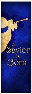 Church Christmas Banner - blue angel 3