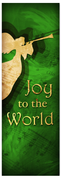 Church Christmas Banner - green angel 1